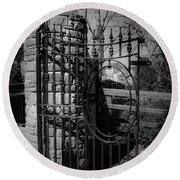 Gate In Macroom Ireland Round Beach Towel