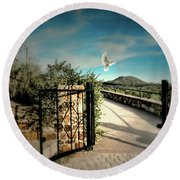 Gate To The Martyrs Round Beach Towel