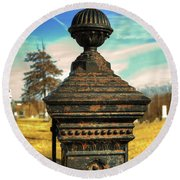 Gate Post Round Beach Towel