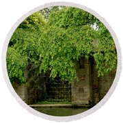 Gate To Cam Waters. Round Beach Towel