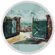 Gate2 Round Beach Towel