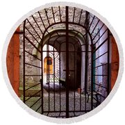 Gated Passage Round Beach Towel