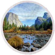 Gates Of The Valley Round Beach Towel