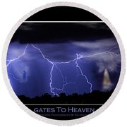 Gates To Heaven Color Poster Round Beach Towel