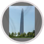 Gateway Arch In The Clouds Round Beach Towel
