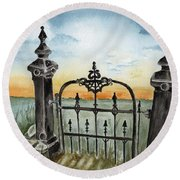 Gateway Round Beach Towel