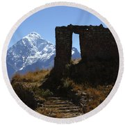 Gateway To The Gods 2 Round Beach Towel by James Brunker