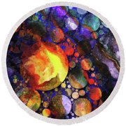 Gathering Of The Planets Round Beach Towel