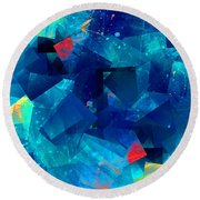 Gathering Of The Squares Round Beach Towel