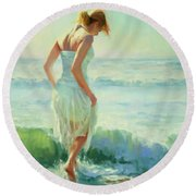 Gathering Thoughts Round Beach Towel