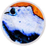 Gator Art - Swampy Round Beach Towel