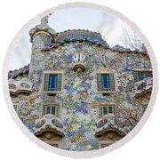 Gaudi Architecture  Round Beach Towel
