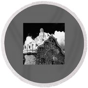 Gaudi House Round Beach Towel