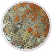Gaudi Mozaic Abstraction Round Beach Towel