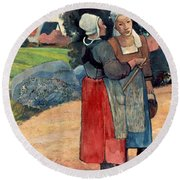 Gauguin: Breton Women, 1894 Round Beach Towel