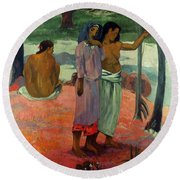 Gauguin: Call, 1902 Round Beach Towel