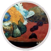 Gauguin: Fete Gloanec, 1888 Round Beach Towel