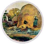 Gauguin: Haystacks, 1889 Round Beach Towel