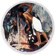 Gauguin: Pape Moe, 1892 Round Beach Towel