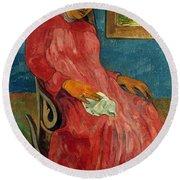 Gauguin: Reverie, 1891 Round Beach Towel