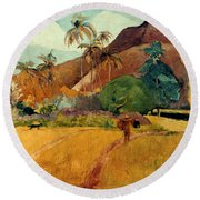 Gauguin: Tahiti, 1891 Round Beach Towel