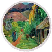 Gauguin Tahiti 19th Century Round Beach Towel