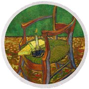 Gauguin's Chair Round Beach Towel