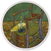 Gauguin's Chair Round Beach Towel