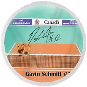 Gavin Schmitt Round Beach Towel by Darren Cannell