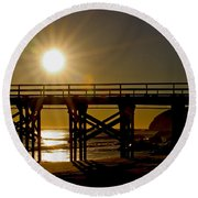 Gaviota Sunset Round Beach Towel