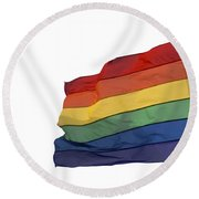 Gay Rainbow Flag  Round Beach Towel