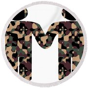Gays In The Military Round Beach Towel