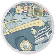 Gaz 20 Round Beach Towel