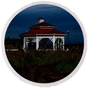 Gazebo  22 Fletcher Lake Round Beach Towel