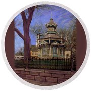 Gazebo At Wisconsin Club Round Beach Towel