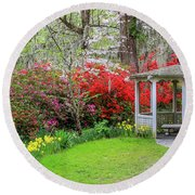 Gazebo View Round Beach Towel