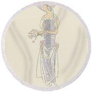 Gazette Du Bon Ton  1921   No 10croquis No Xviii  Anonymous  1921 Round Beach Towel