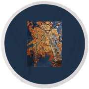 Gazing In Colorado Round Beach Towel