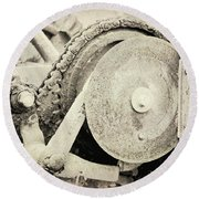 Gears Nuts And Bolts Round Beach Towel