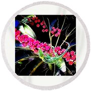 Gecko Berry Round Beach Towel