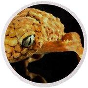 Gecko - Id 16218-130646-3343 Round Beach Towel