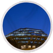 Geisel Library Round Beach Towel