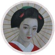 Geisha Round Beach Towel