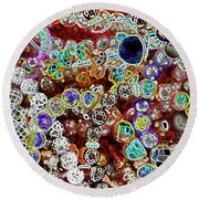 Multiverse Gelaxy Dark Round Beach Towel