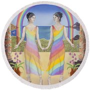 Gemini / Iris And Arke Round Beach Towel