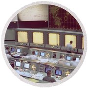 Gemini Mission Control Round Beach Towel by Nasa/Science Source