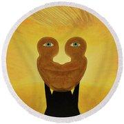 Gemini. Self-portrait Round Beach Towel