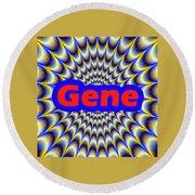 Gene Round Beach Towel