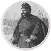 General Ambrose Burnside Round Beach Towel