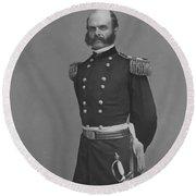 General Ambrose Everett Burnside Round Beach Towel by War Is Hell Store